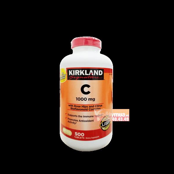 Hình ảnh tổng thể củaViên uống bổ sung Vitamin C của Mỹ 1000mg Kirkland 500 viên