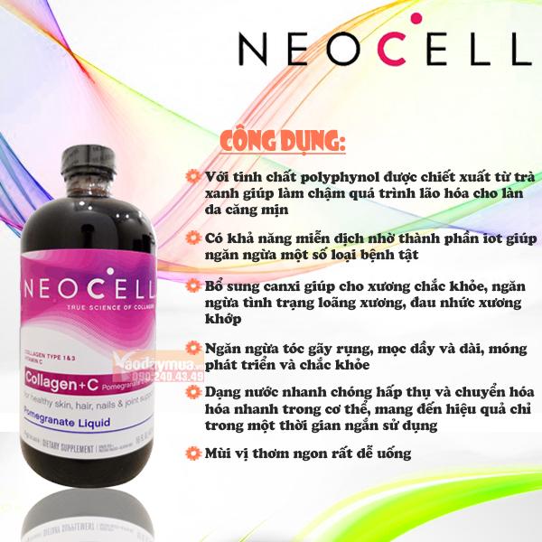Công dụng chính củacollagen C Neocelllựu của Mỹ loại4000 mg đem lại