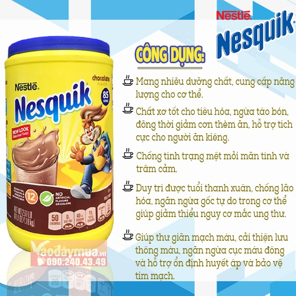 Công dụng của Bột cacao Nestle