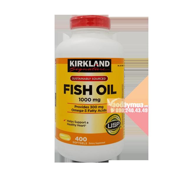 Hình ảnh tổng thể của dầu cá Kirkland Omega 3 Fish Oil 1000mg của Mỹ