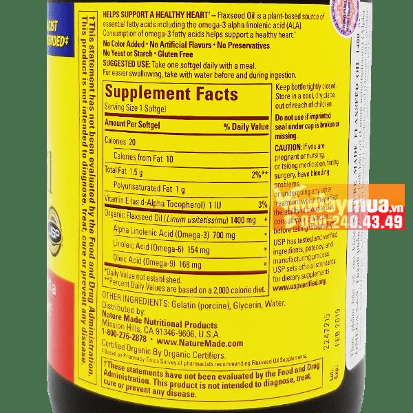 Nguồn dưỡng chất đầy đủ cơ thể của dầu hạt lanh Omega 3 - 6- 9 300 viên của Mỹ
