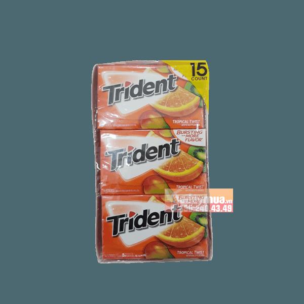 Hình ảnh tổng thể của kẹo cao su Trident vị cam