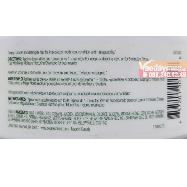 Thành phần dưỡng chất có trongkem ủ tóc L'oreal Natures Therapy Mega Moisture Nurturing Creme Mỹ