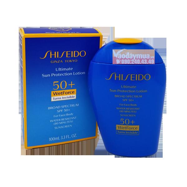 Hình ảnh tổng thểKem chống nắng Shiseido Ultimate Sun Protection Lotion Wetforce SPF 50+