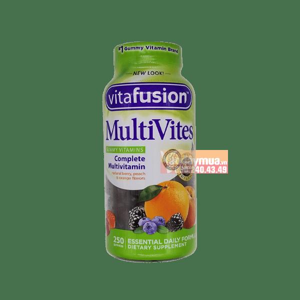 Hình ảnh tổng thể kẹo dẻo vitamin cho người lớnVitafusion Multivites Multivitamin của Mỹ