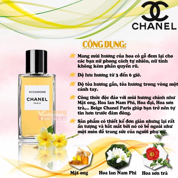 Công dụng nổi bật chỉ có Nước hoa nữ Beige Chanel Paris