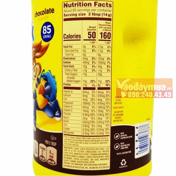 Thành phần dinh dưỡng có trong bột Cacao