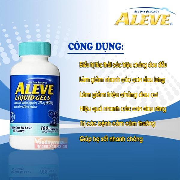 Công dụng chính viên uống giảm đau nhanh Aleve