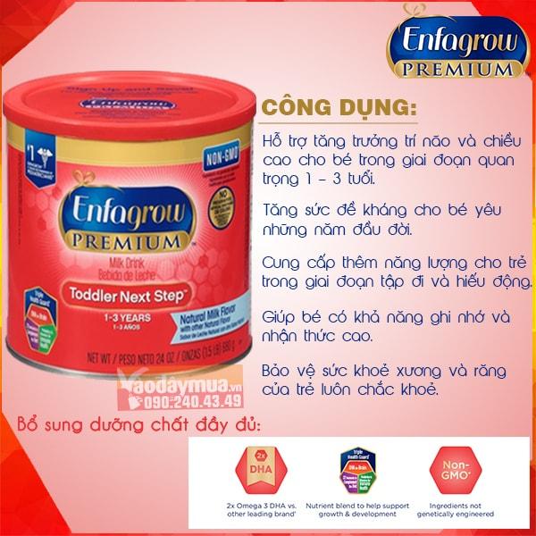 Công dụng từ sữa Enfafrow Premium