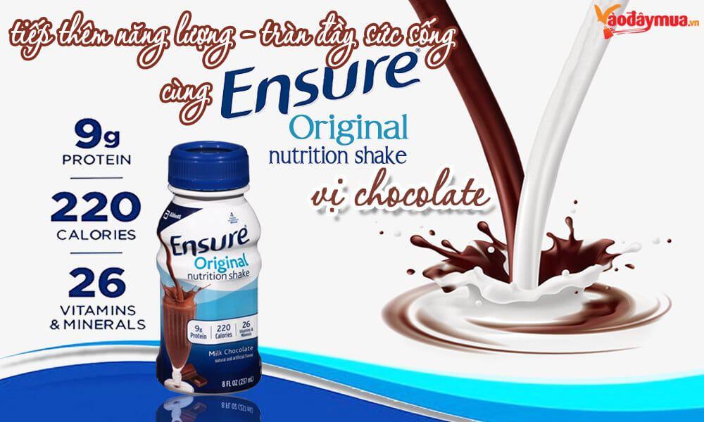 Nguồn năng lượng từ sữa Ensure Original