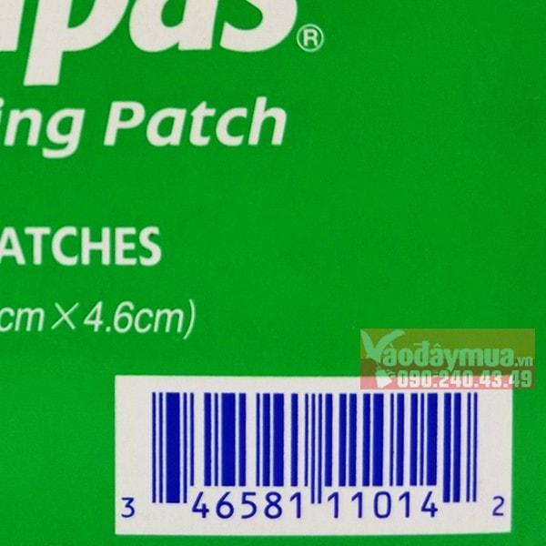 Check mã vạch miếng dán giảm đau Salopas của Mỹ trước khi mua