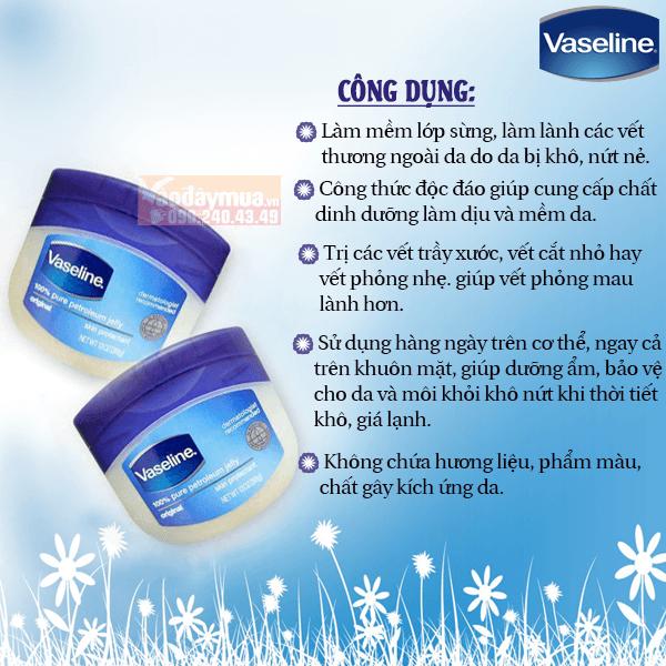 Công dụng đặc biệt có trong sáp dưỡng ẩm Vaseline của Mỹ