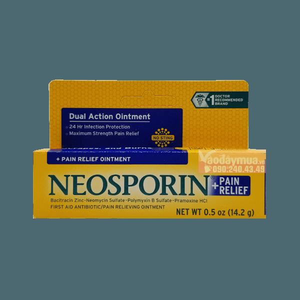 Hình ảnh tổng thể kem mỡ điều trị vết thương Neosporin của Mỹ