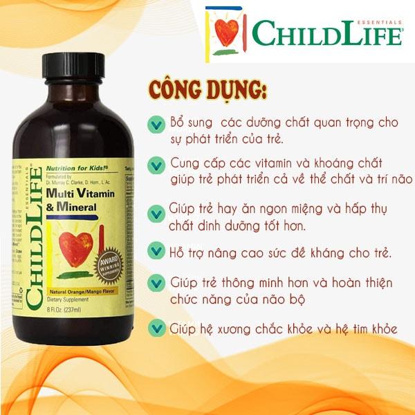 Công dụng chính có từSiro tăng cường hệ miễn dịch Childlife First Defense Mỹ