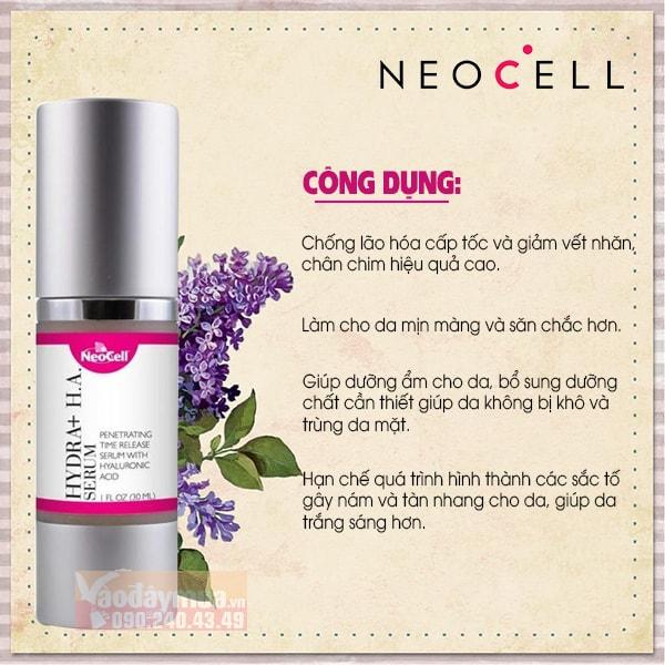 Công dụng chính từSerum chống lão hóa Neocell Collagen Radiance Mỹ