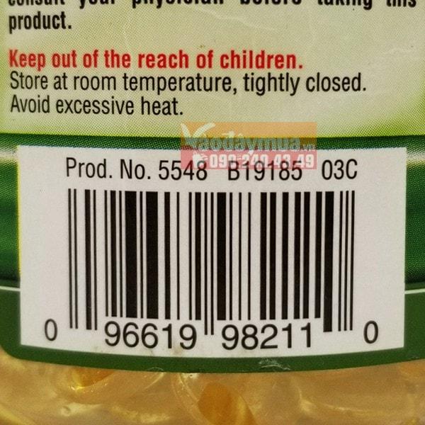 Check mã vạch của viên uống vitamin E 400IU của Mỹ