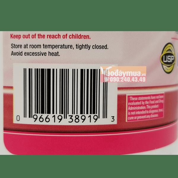 Check mã code có trong viên uống Calcium D3 + 600mg của Mỹ