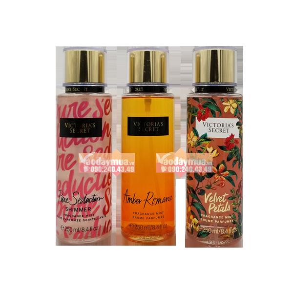 Hình ảnh tổng thể xịt thơm toàn thânVictoria Secret Frangrance Mist của Mỹ