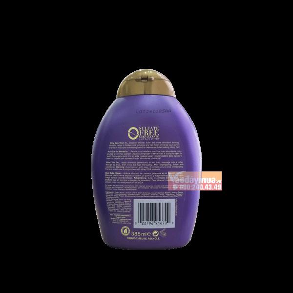 Thông tin chi tiết mặt sau của combo dầu gội Biotin & Collagen của Mỹ