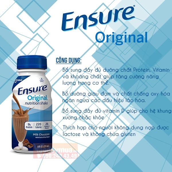 Công dụng tuyệt vời từ sữa Ensure Original