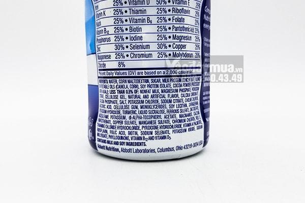 Thành phần dinh dưỡng trong sữa Ensure