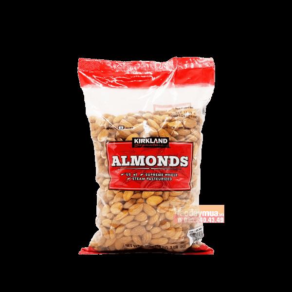 Hình ảnh tổng thểHạt hạnh nhân không muối Kirkland Almonds của Mỹ