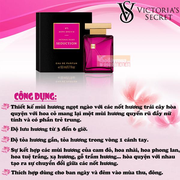 Đặc điểm nổi bật của nước hoanữ Victoria Secret Seduction Dark Orchid For Women