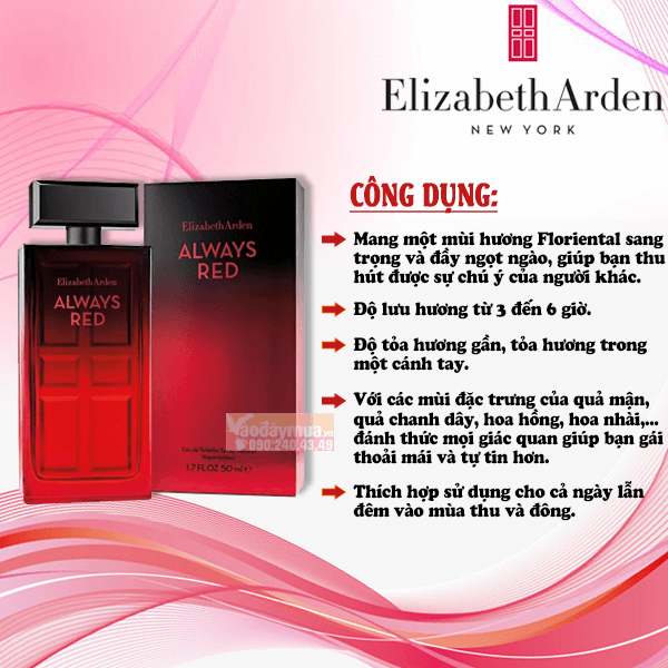 Điểm nổi bật mà nước hoa Elizabeth Arden Always Red mang lại