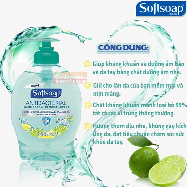 Một số công dụng chính từ rửa tay Softsoap của Mỹ