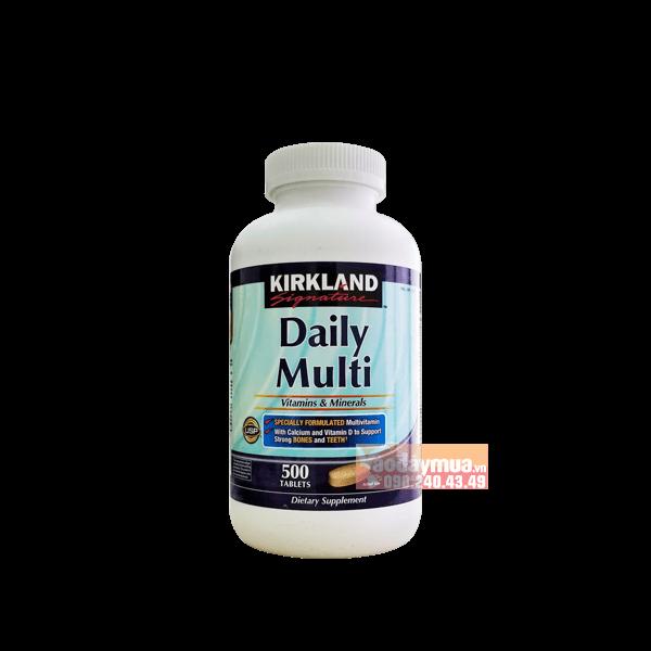 Hình ảnh tổng thể viên uống vitamin tổng hợp Kirkland Daily Multi 500 viên