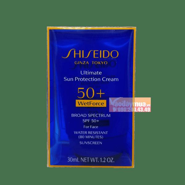 Hình ảnh tổng thểcủa kem dưỡng chống nắng Shiseido Ultimate Sun Protection Cream SPF 50+Mỹ