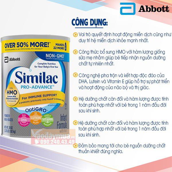 Công dụng Similac Pro - Advance