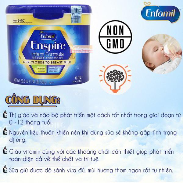 Công dụng sữa Enfamil Enspire