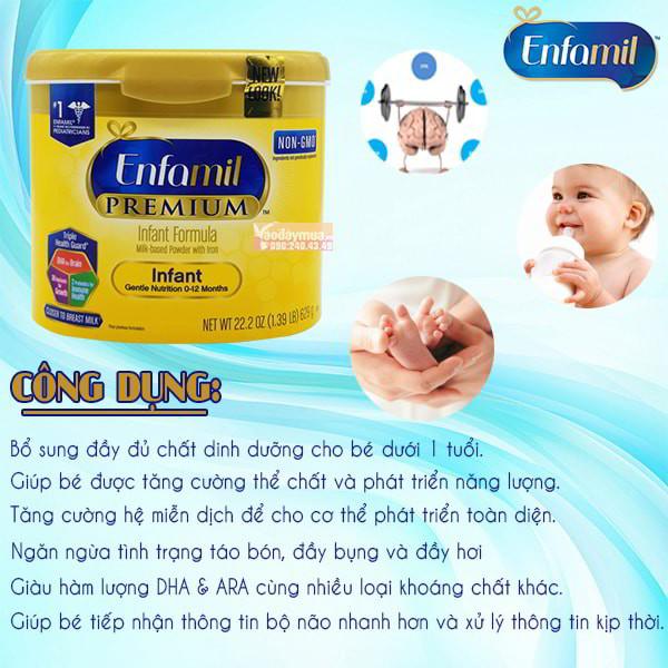 Công dụng tuyệt vời từ sữa Enfamil Premium
