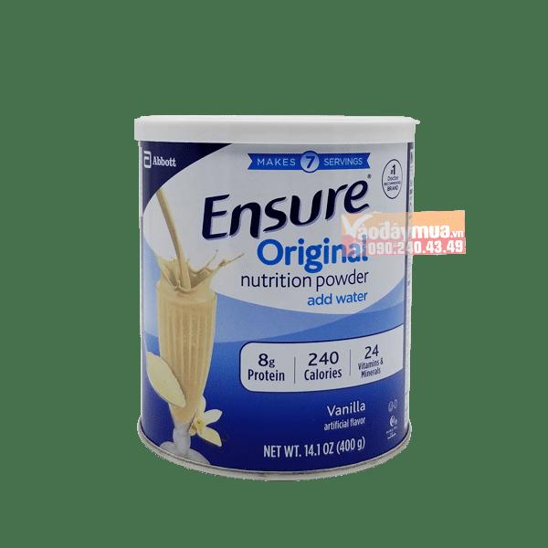 Hình ảnh tổng thể của sữa bột Ensure Orginal 400g của Mỹ