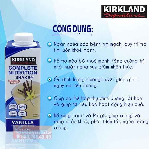 Công dụng tuyệt vời của sữa nước Kirkland