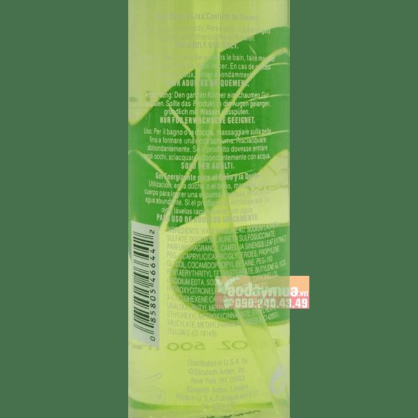 Thành phần đặc biệt cấu tạo nênSữa tắm gel trà xanh Elizabeth Arden Green tea Shower