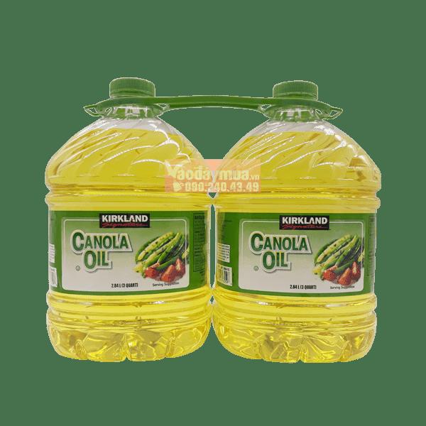 Dầu hạt cải Kirkland Canola Oil 2,84l của Mỹ