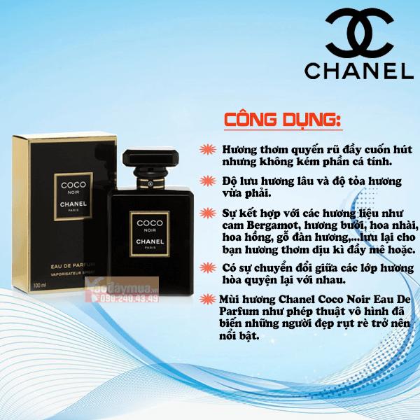 Công dụng đặc biệt của nước hoa nữ Chanel Coco Noir