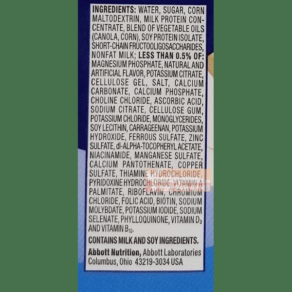 Thành phần trong sữa nước Ensure của Mỹ