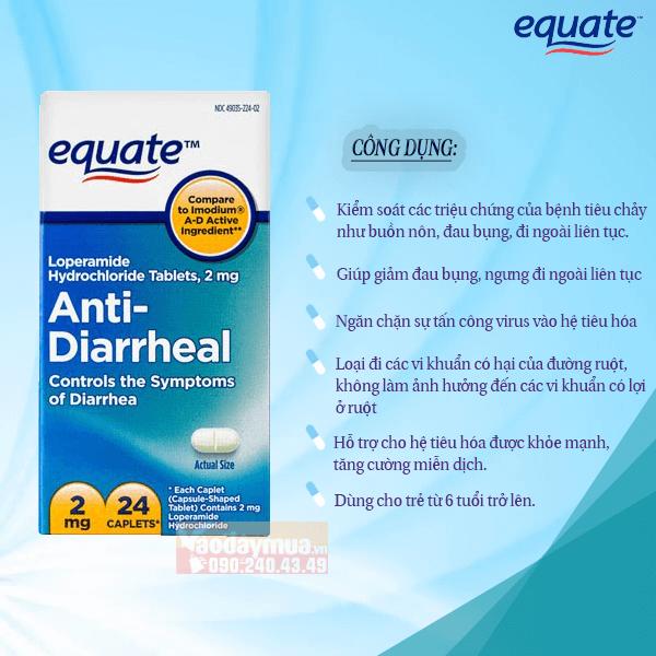 Công dụng của viên uống Equate Anti – Diarrheal