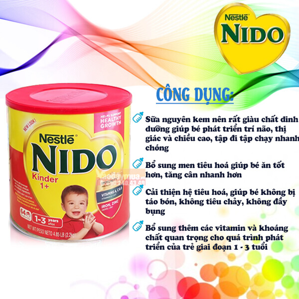 Công dụng của sữa Nido