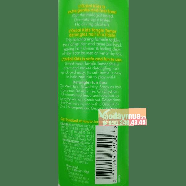 Thành phần dưỡng chất có trong dầu gộiL'oreal Kids Sweet Pear Mỹ