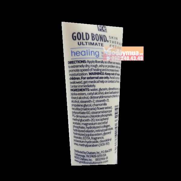Thành phần dưỡng chất có trong kem dưỡng cho da khô Lotion Gold của Mỹ