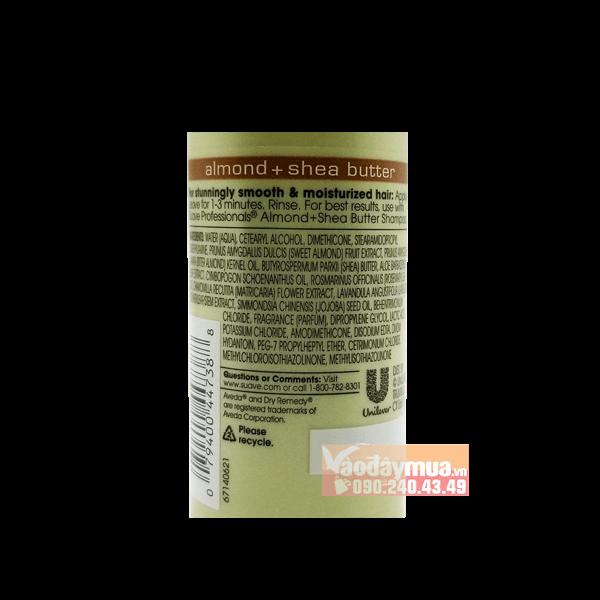 Thành phần dưỡng chất có trongDầu xả Suave Professionals Almond + Shea Butter Moisturizing