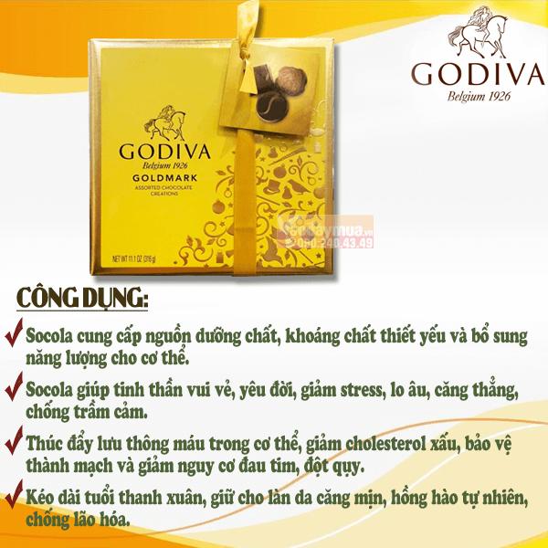 Công dụng chính của hộpChocolate Godiva Goldmark