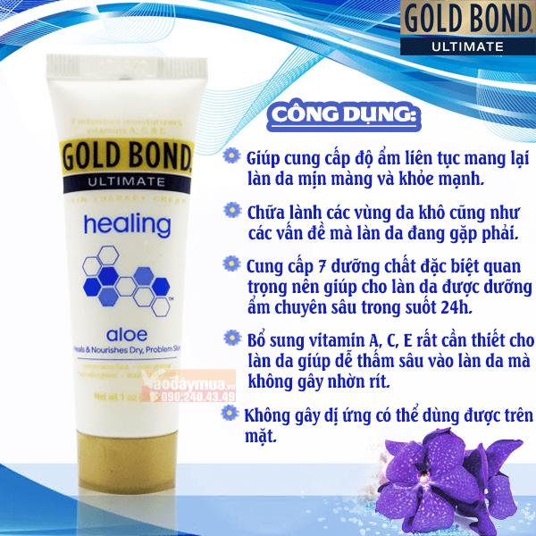 Công dụng chính của kem dưỡng ẩm cho da khô Gold Bond của Mỹ