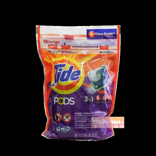 Viên giặt xả đa chiều 3 trong 1 Tide Pods của Mỹ