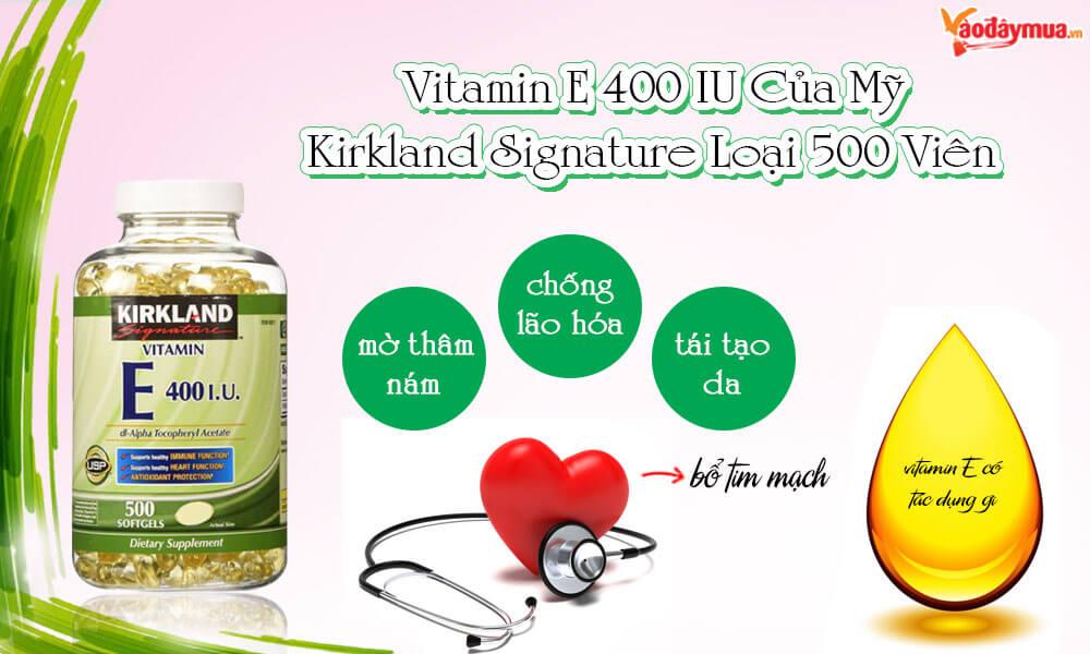 tác dụng của viên uống vitamin E