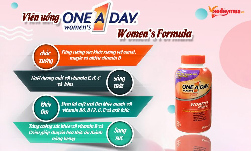 Hình ảnh tổng thể vitamin tổng hợp dưới 50 tuổi One A Day Women's Formula 300 viên của Mỹ